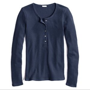 J. Crew waffle stitch gray long-sleeved Henley S